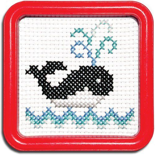 Easy Street Little Folks Whale Counted Cross-Stitch Kit