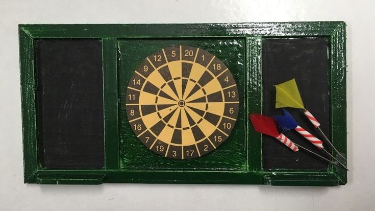 This is a truly exquisite handmade dart board perfect for any pub or games room, supplied with three loose darts you can set the scene up however you want, even add some score marks to the chalk board to make it your unique scene! | eBay!