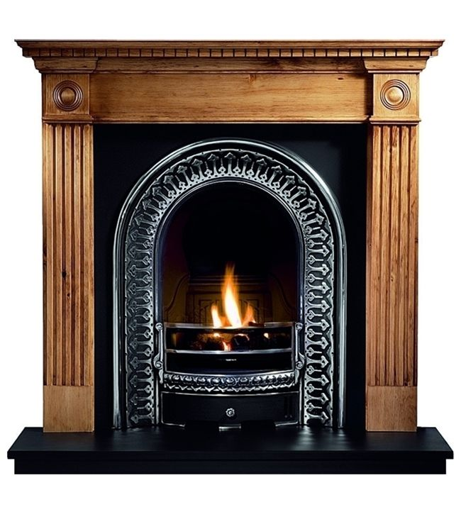Roundel Pine Mantel From Gallery Fireplaces Projects To