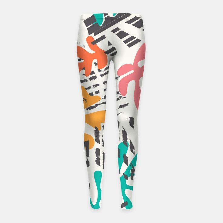 Matisse pattern 011 Girl's Leggings, Live Heroes