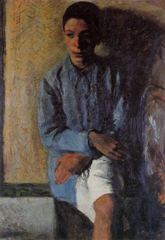 Portrait of Brother Ettore, 1910  Mario Sironi