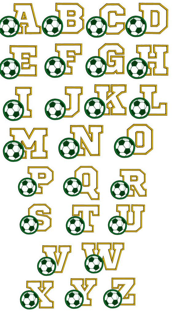 Soccer font embroidery design. Sports font. Footbal font. Sports font with…