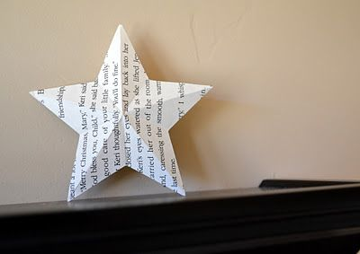 Craftaphile: How to Make a 3d Paper Star - it would look amazing made with sheets of christmas carols!