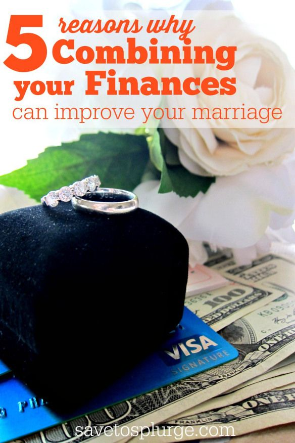 Money is one of the most fought-over issues between spouses. This post shares 5 reasons why combining finances can improve your marriage!