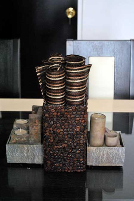 ideas para decorar con granos de caf