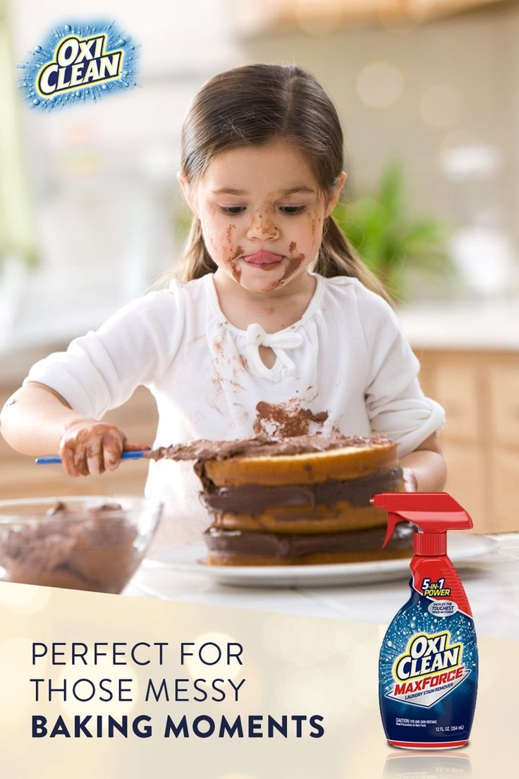 Get Chocolate Stains Out With Oxiclean Maxforce Laundry