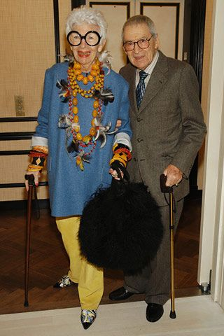 Iris and Carl Apfel, via Flickr. Why is she w such a mundane man? Iris we need 2 b seen 2gether. Lawrence