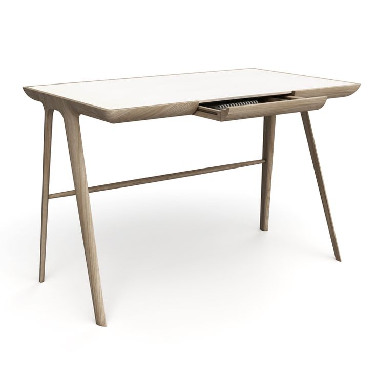 UK Based Designer James Melia Made For Dare Studio This Amazing Maya Desk.  The Desk Has A Cool Sculptural Form And Beautifully Refined Proportions Are  Perf Nice Look