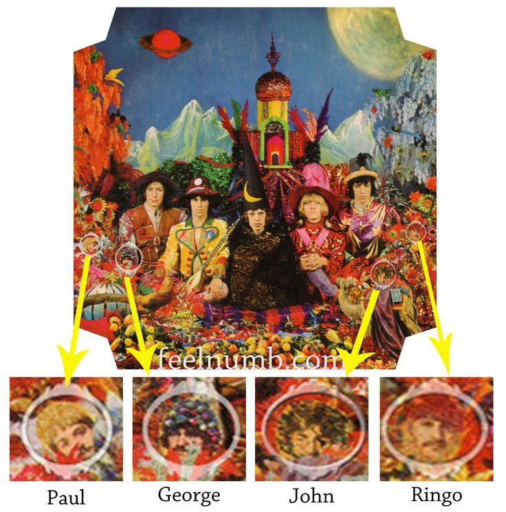 The Rolling Stones' & the Beatles' Album Cover Easter Eggs