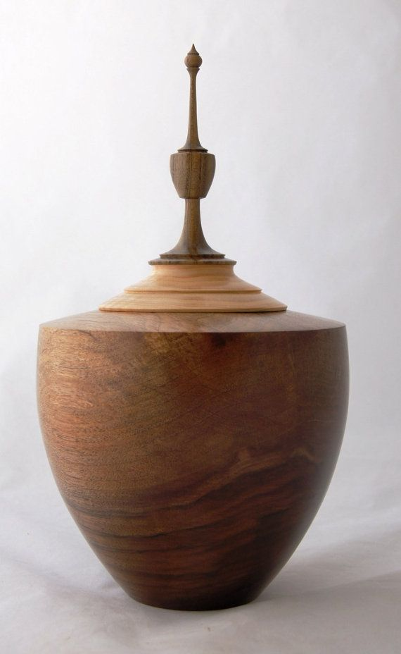 hand turned Walnut Bowl or cremation Urn by TreesInsideOut on Etsy