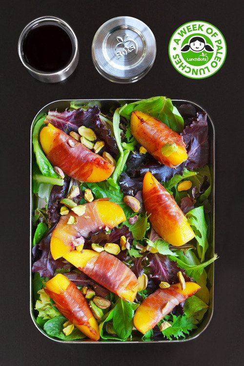 Prosciutto-Wrapped Peach and Pistachio Salad   23 Low-Carb Lunches That Will Actually Fill You Up