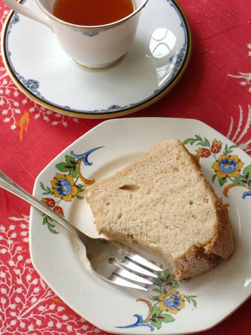 English Breakfast Tea Angel Food Cake (not a layer cake, but cake made with tea)