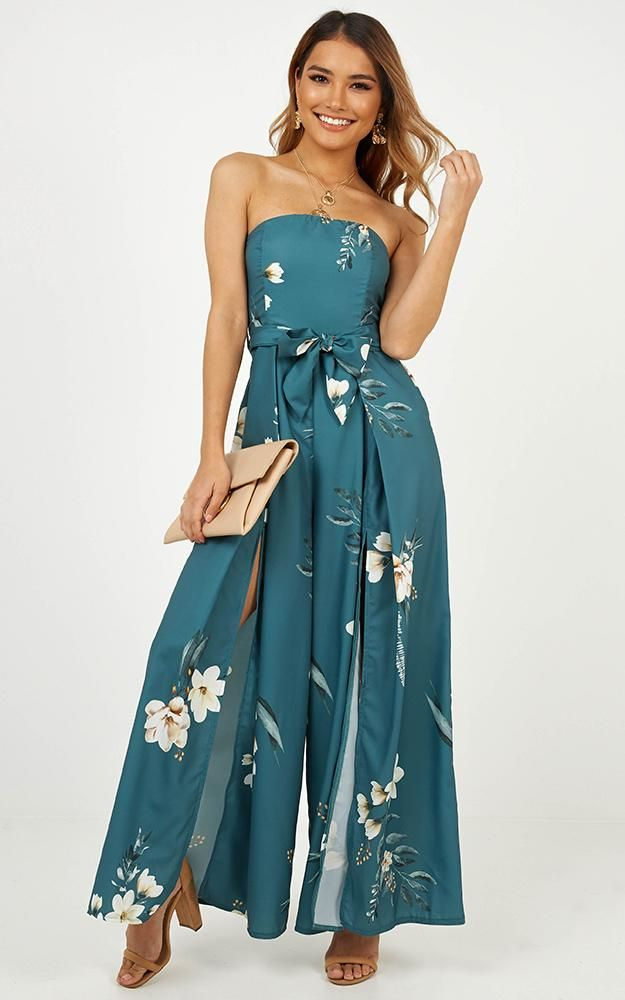 638f484b8860 Escaping Fate Jumpsuit In Green Floral Produced in 2019
