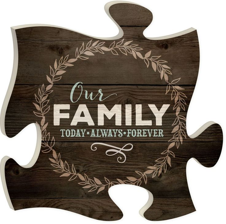 """Our Family. Today, Always, Forever - Measures 12"""" x 12"""" square - all puzzle frames easily link together for a unique presentation"""