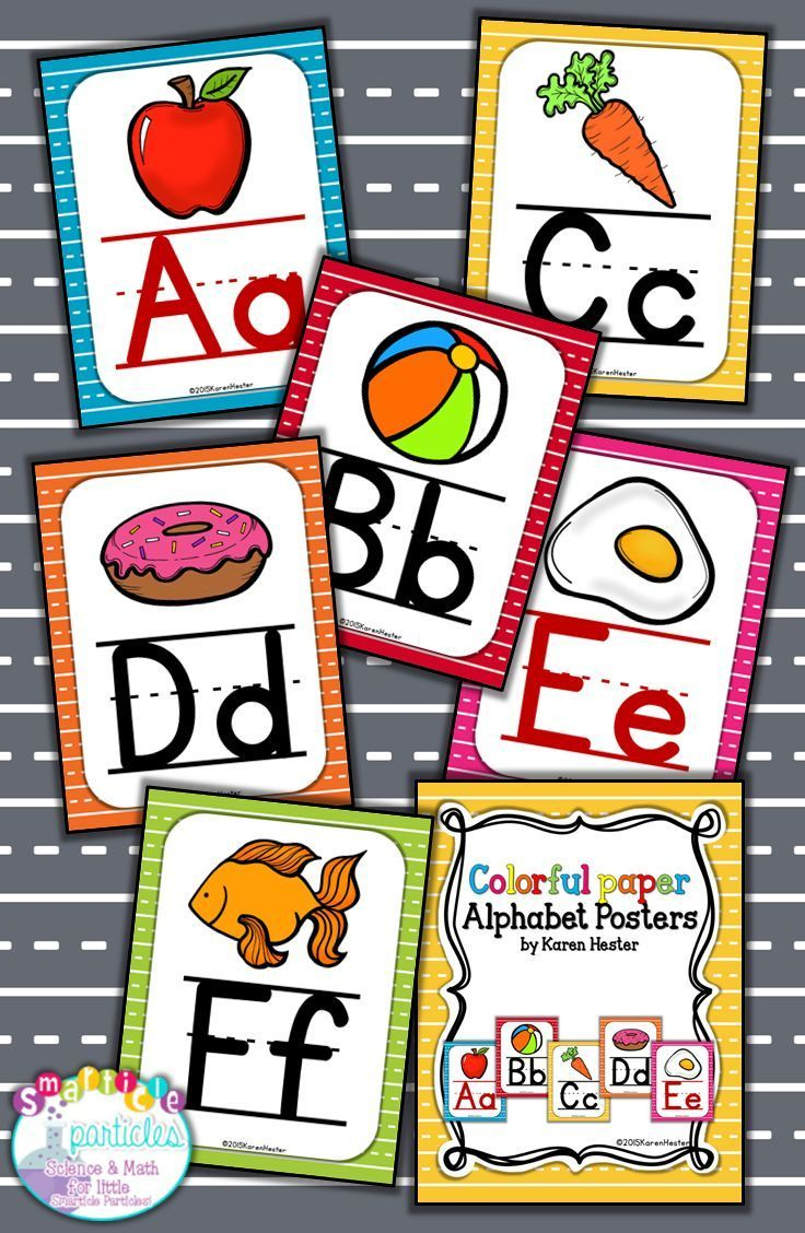 Colorful alphabet posters that are perfect for any brightly themed classroom!
