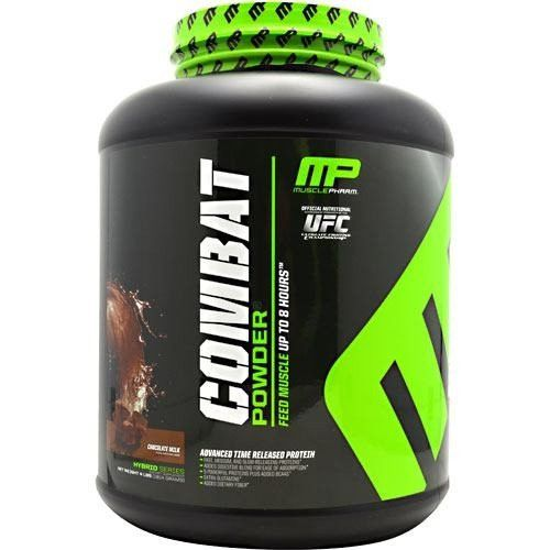 Muscle Pharm Combat Powder Advanced Time Release Protein, Chocolate, 4 Pound