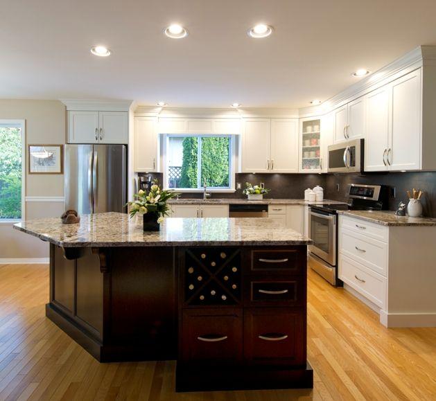 Bianco Antico Granite Countertops With Iron Copper Neolith Backsplash.  Cabinets By Innovative Kitchens U0026 Bath