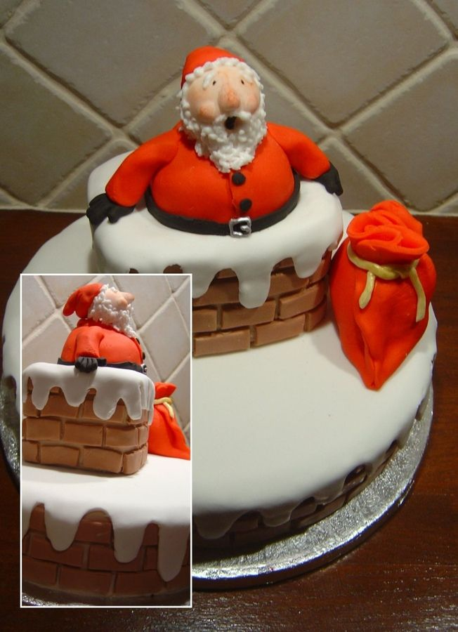 Marzipan Cake Decorations For Christmas : Fruitcake, marzipan and sugarpaste. From Anne Smith s ...