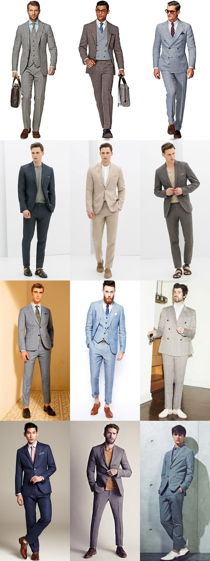 High Summer Style: The Linen Suit Lookbook