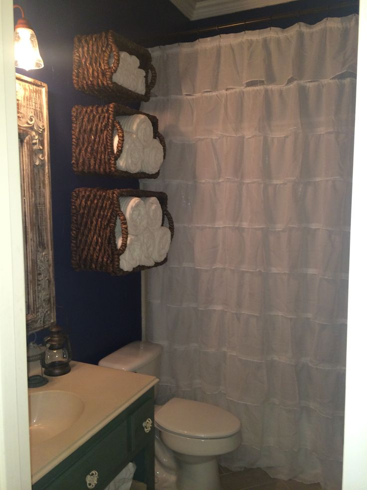 Pinterest Steal Three Baskets Over The Toilet To Hold