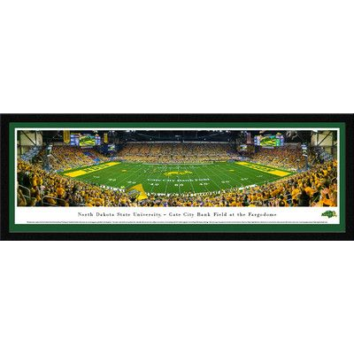 BlakewayPanoramas NCAA North Dakota State Football 50 Yard Line Framed Photographic Print