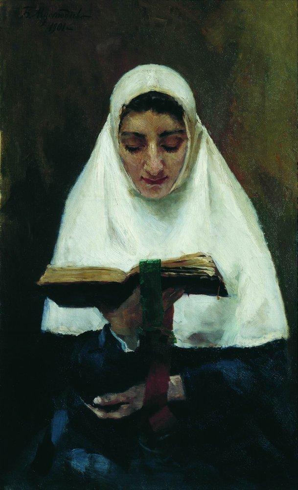 Abbess, 1901 Boris Kustodiev.
