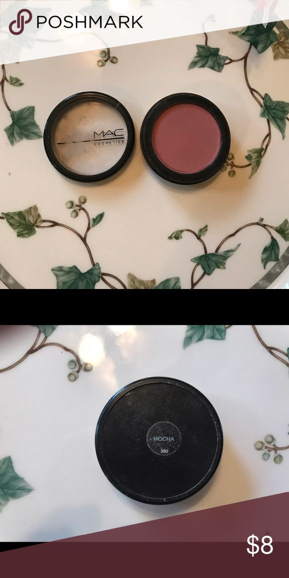 MAC mocha blush Barely used MAC cosmetics blusher in mocha. Lid is slightly damaged but the make up is near  perfect. 100% authentic. Purchased at Macy's. Packaging may have changed since then. MAC Cosmetics Makeup Blush