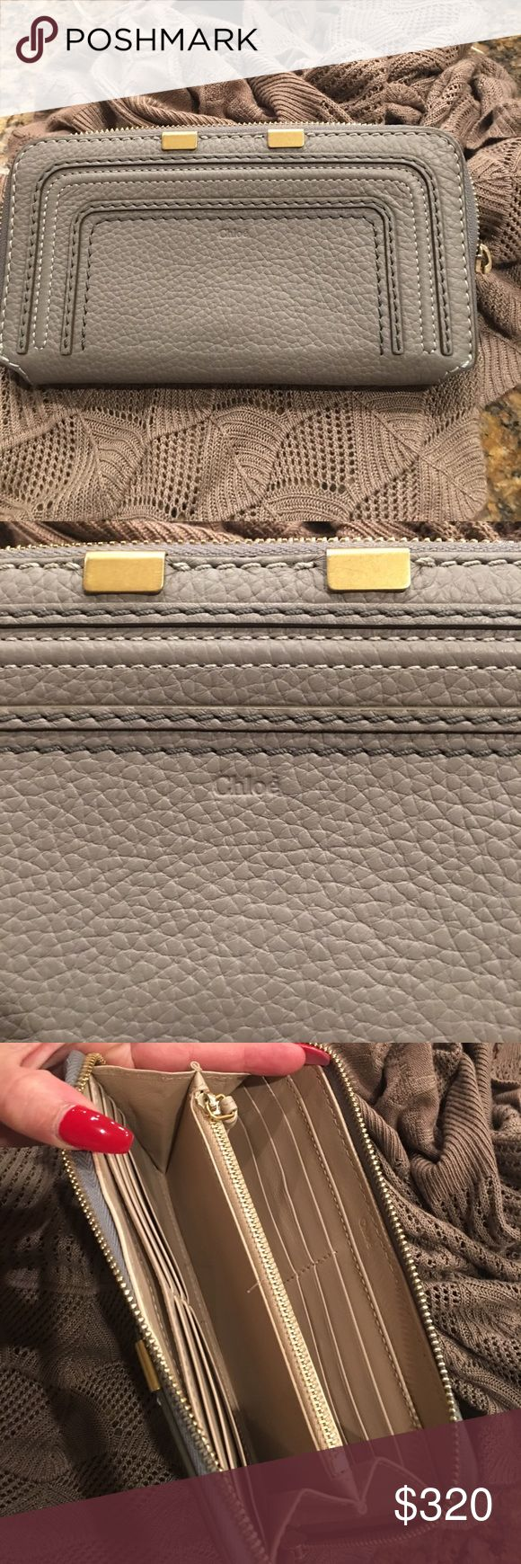 Chloe wallet Excellent condition Chloe wallet other than the zipper is missing the little handle as shown in picture goes for $550 Chloe Bags Wallets