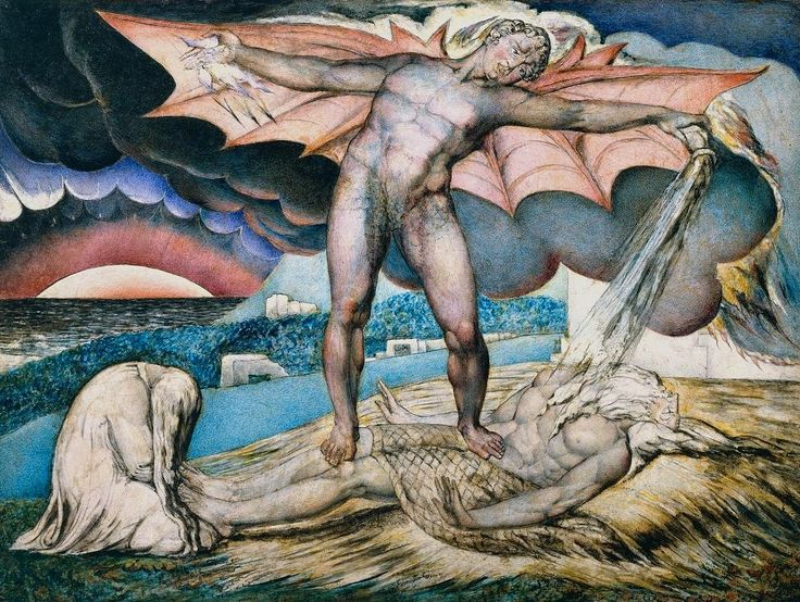 """Satan Smiting Job with Sore Boils"" - William Blake, circa 1826"