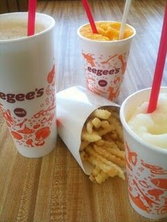 Eegee's!! This place is a must try in #Tucson for their fruit slushes aka an Eegee. Standard flavors are Strawberry, Lemon and Piña Colada as well as the flavor of the month. Their #fries are also amazing plain, pizza or ranch style. http://www.eegees.com