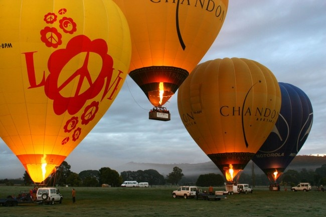 Yarra Valley Balloon Flights | Photo Gallery - Hot air ballooning Yarra Valley, Photos of our balloon flights - Global Ballooning
