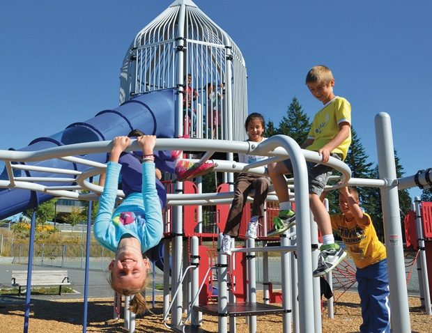 University Highlands opens playground after parents raise more than $100,000 - Burnaby, BC #kids #playground #parents #fundraising