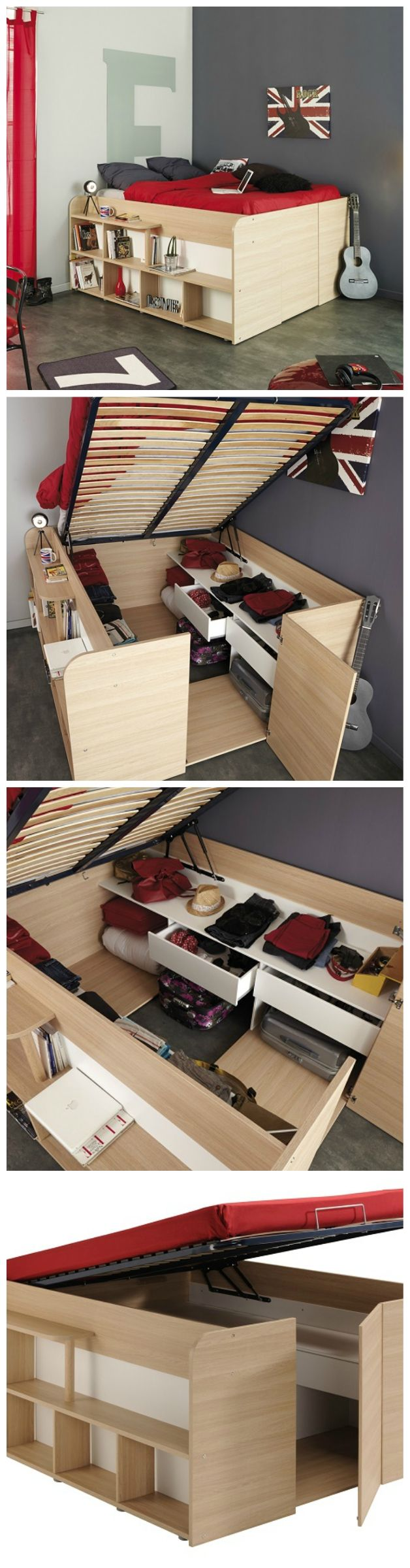 Space-Up Double Bed