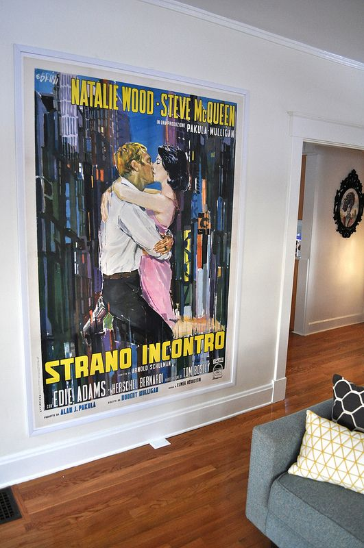 "Italian 2 Foglios (55"" x 77"") in one of our Standard Border Frames 1.25"" Thank you Wonkabars7!!! #NatalieWood #SteveMcqueen #LovewiththeProperStranger"