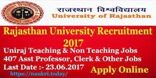 University of Rajasthan Recruitment 2017 for 217 Faculty and Non - Teaching - Apply online - in English https://onlinetyari.com/latest-job-alerts/university-of-rajasthan-recruitment-2017-i45857.html #Rajasthan Recruitment 2017#onlinetyari