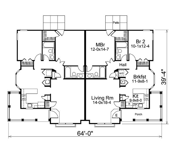 Country Ranch Multi-Family Plan 95864