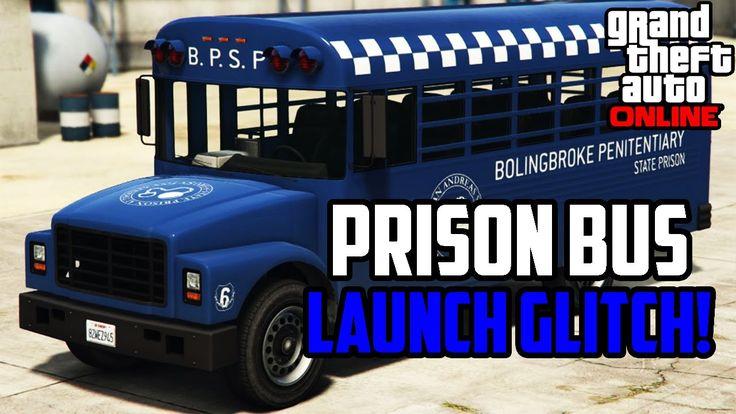 GTA 5 Online - Prison Bus Launch Glitch 1.33! (GTA 5 Glitches)