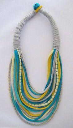crochet jewelry yarn - Google Search                                                                                                                                                                                 More
