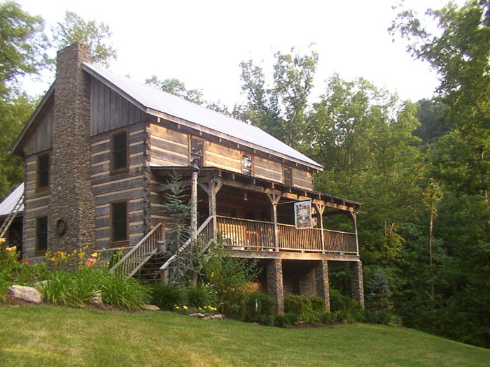 75 best images about log home on pinterest timber homes for Log and stone homes