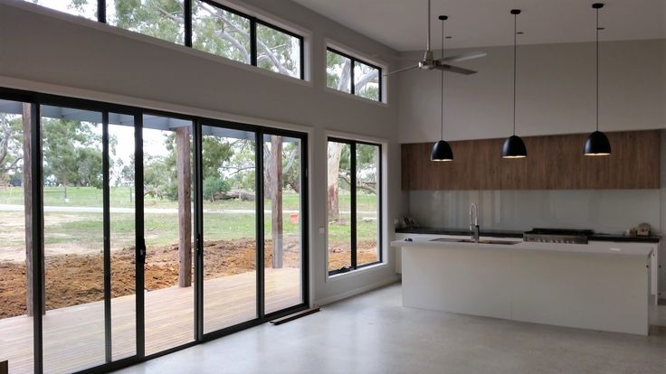 During Construction - Inverleigh Custom Acreage Home - Kitchen/DiningDesign & Build by Pivot Homes