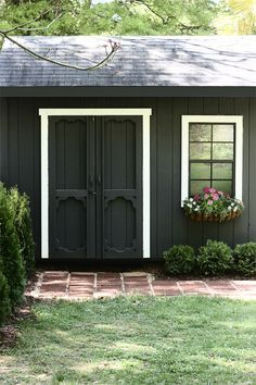 The Shed: Paint it Black by @Kristin Plucker Plucker Plucker Jackson | the Hunted Interior