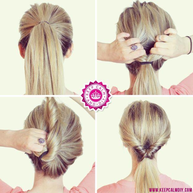Transforme um rabo de cavalo simples passando com um belo torcidinho: | 22 penteados simples para quando você não sabe o que fazer com seu cabelo
