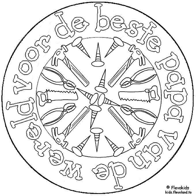 For the best Dad of the World (in Dutch) papa-mandala.gif (680×680)