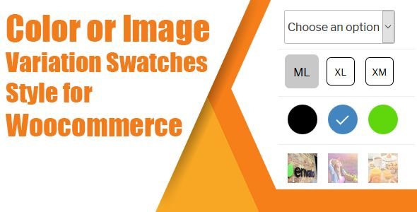 Color or Image Variation Swatches style for WooCommerce