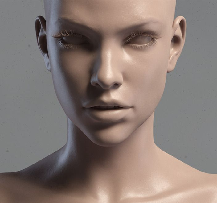 3d ART: 3d model Milla Jovovich head V3