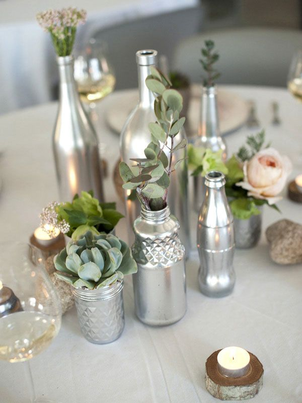 9 Incredible DIY Wine Bottle Centerpieces for Your Wedding