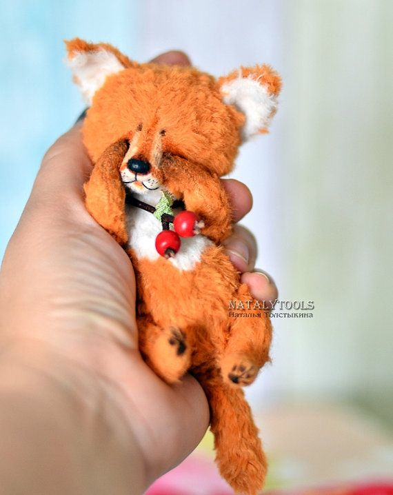 Fox pup Artist Teddy bear OOAK stuffed creation by от NatalyTools
