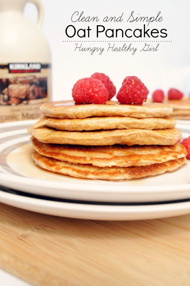 An easy recipe for clean, simple, oat pancakes. These pancakes are light, gluten-free, low-calorie and pack a major protein punch.