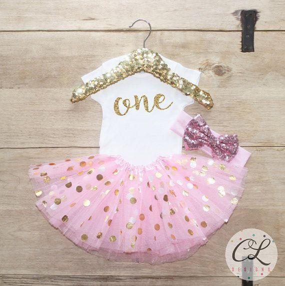 Primo compleanno Tutu vestito / vestiti di ragazza bambino 1 anni Outfit un compleanno insieme 1 ° compleanno ragazza vestito Baby Tutu Bow vestito impostata 053
