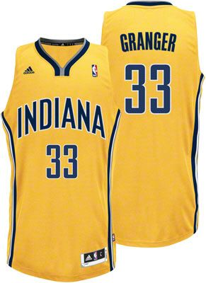 Indiana Pacers Danny Granger 33 Gold Authentic Jersey Sale